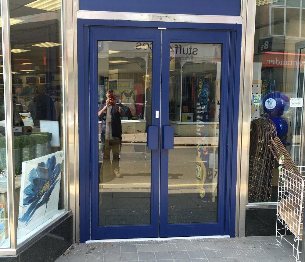 New Aluminium Shop Front Entrance Doors