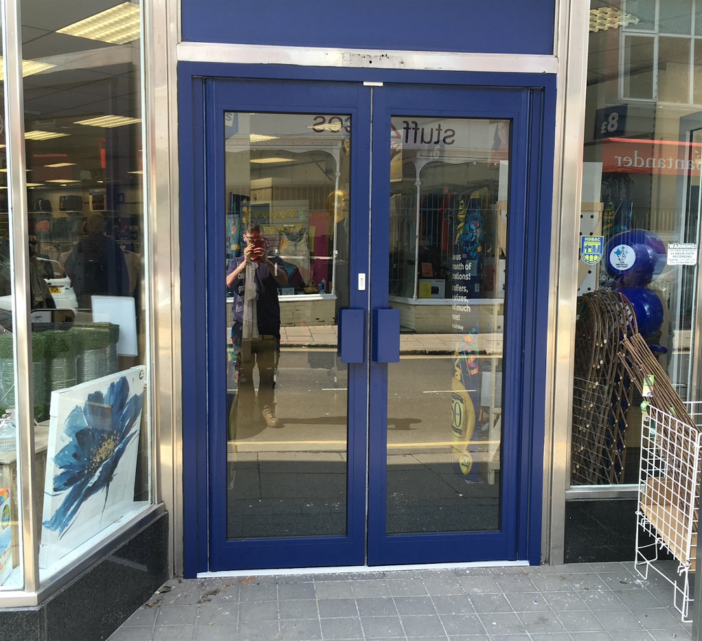 New Aluminium Shop Front Entrance Doors